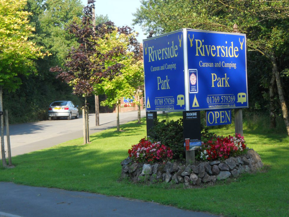 Entrance to Riverside Camping Park, South Molton