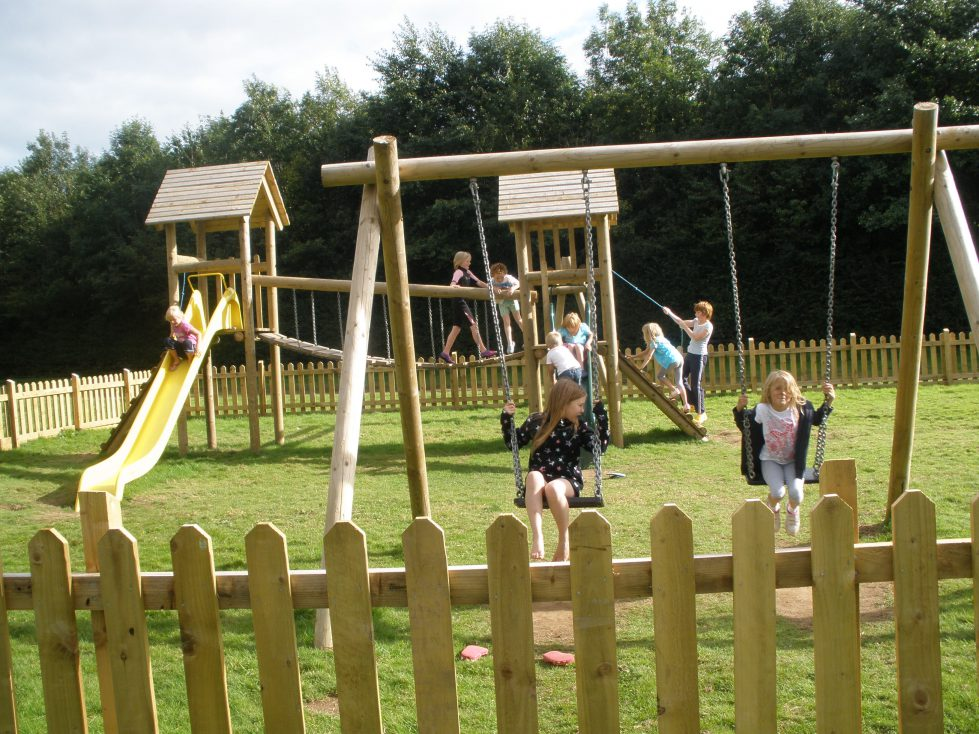 Playground at Riverside Camping Park, South Molton
