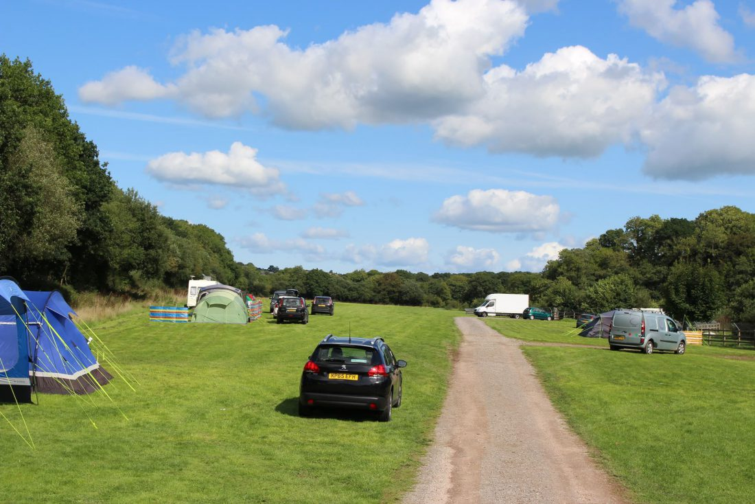 Grass Camping Pitch Riverside Camping & Caravan Park, South Molton