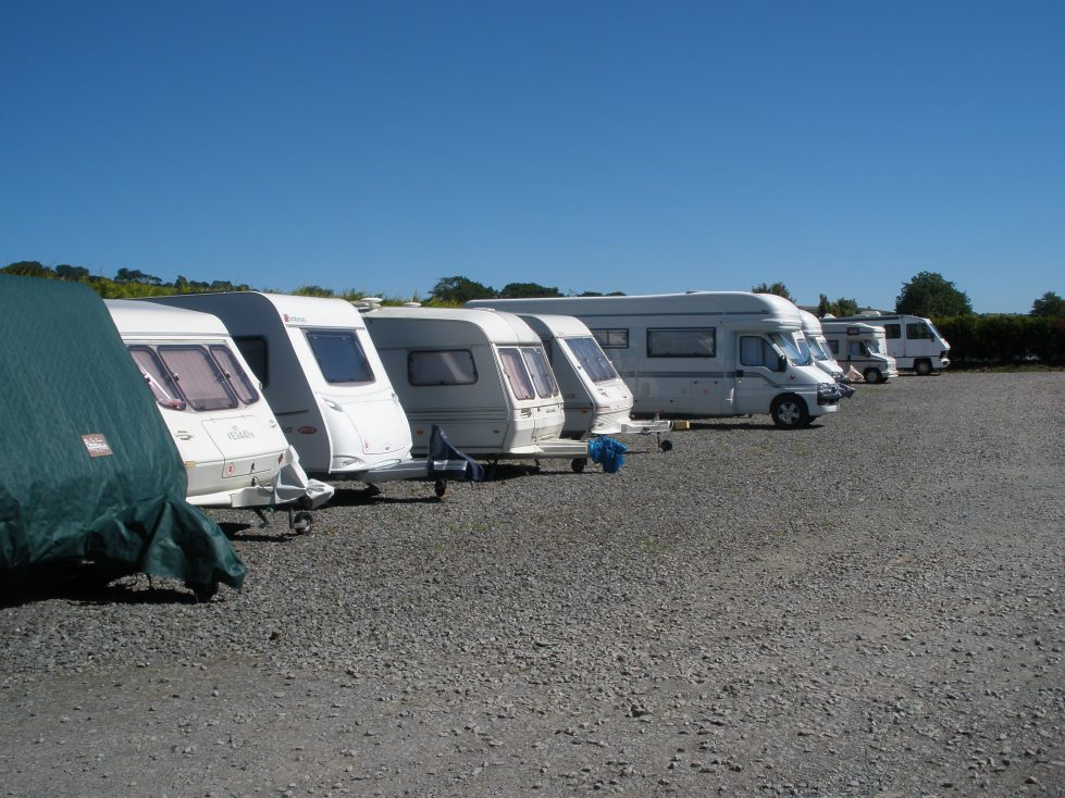 Caravan Storage at Riverside Camping Park, South Molton