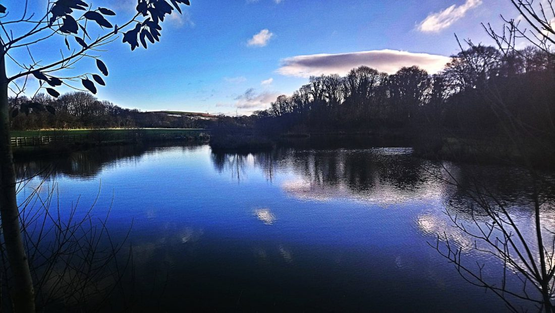 Lake at Riverside Camping and Caravan Park, South Molton