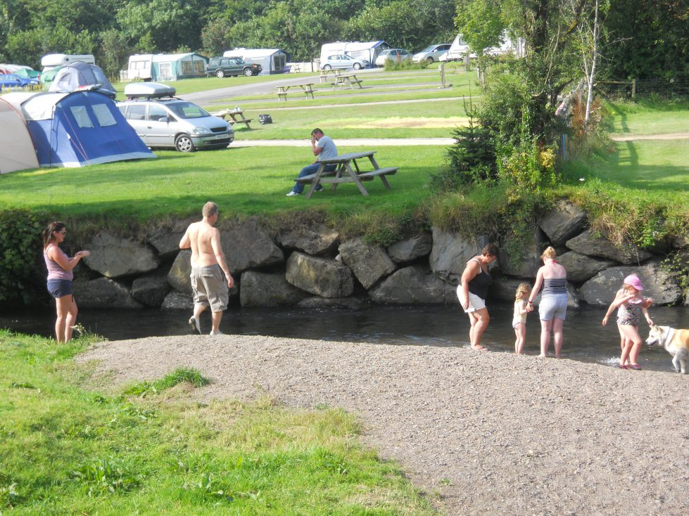 Paddling Stream at Riverside Camping & Caravan Park, South Molton