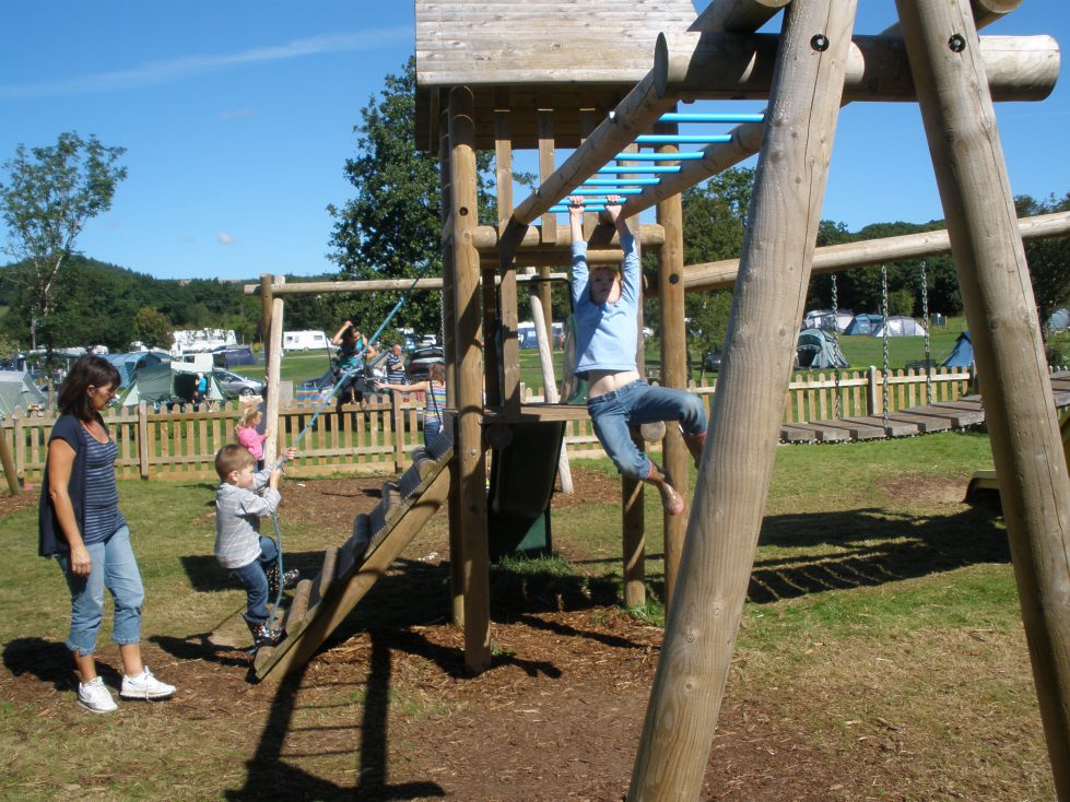 Playground at Riverside Camping & Caravan Park, South Molton