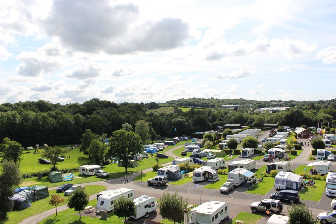 Camping Pitches at Riverside Camping and Caravan Park, South Molton