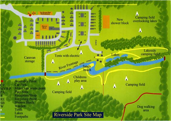Riverside Camping & Caravan Park, South Molton - Park Map